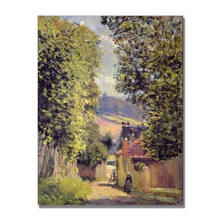 Alfred Sisley 'A Road to Louveciennes 1883' Canvas Art