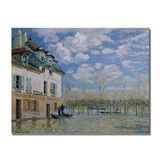 Alfred Sisley 'The Boat in the Flood' Canvas Art