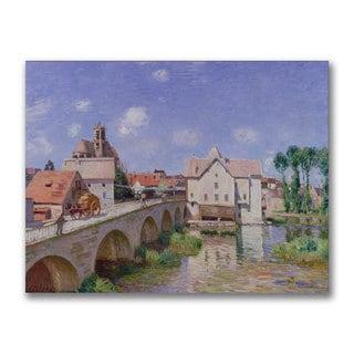 Alfred Sisley 'The Bridge at Moret 1893' Canvas Art