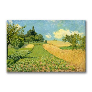 Alfred Sisley 'The Cornfield' Canvas Art