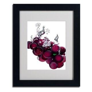Roderick Stevens 'Grape Splash II' Framed Matted Art
