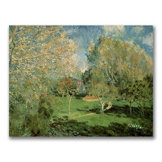Alfred Sisley 'The Garden of Hoschede Family' Canvas Art