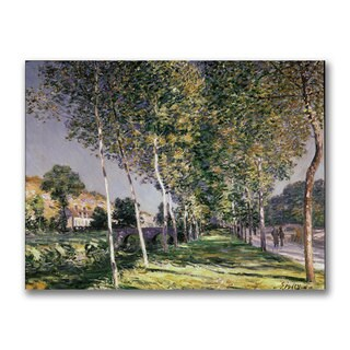 Alfred Sisley 'The Walk' Canvas Art