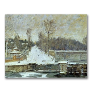 Alfred Sisley 'The Watering Place' Canvas Art
