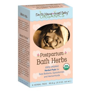 Earth Mama Angel Baby Postpartum Bath Herbs Herbal Pads