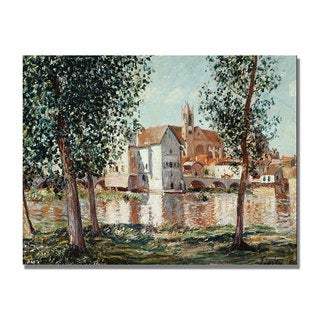Alfred Sisley 'The Loing at Moret' Canvas Art