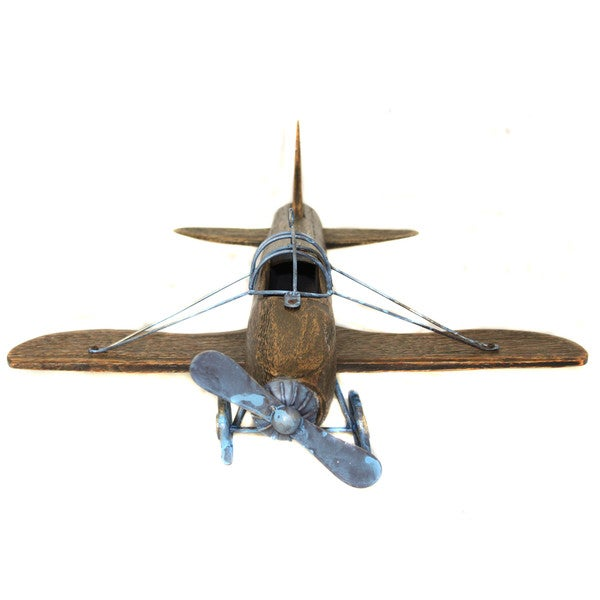 Casa Cortes Handcrafted Wooden Airplane Model Toy - Free Shipping ...