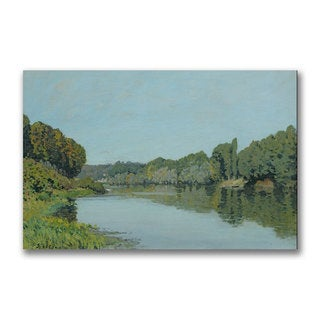 Alfred Sisley 'The Seine at Bougival 1873' Canvas Art