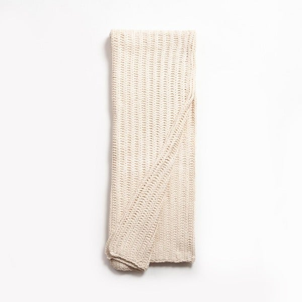 Jaylen Knitted Natural Throw