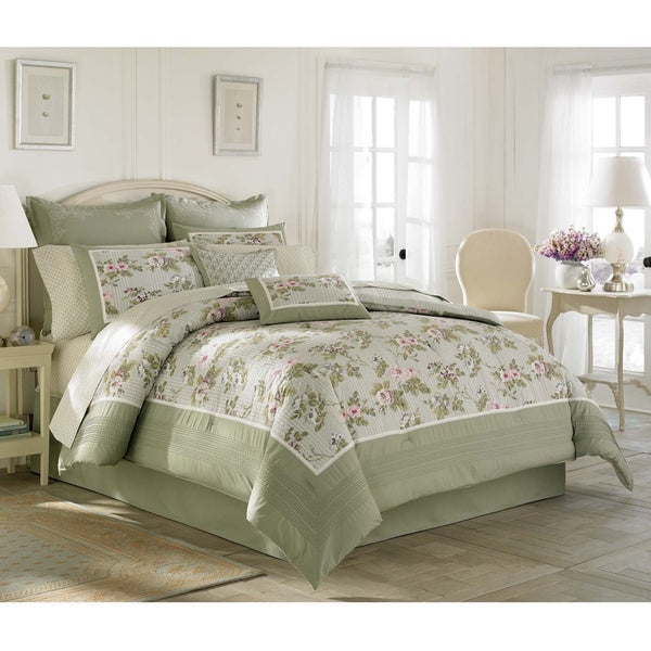 Laura Ashley Avery Traditional Cotton 4 Piece Comforter