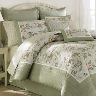 Laura Ashley 'Avery' Traditional Cotton 4-piece Comforter Set|https://ak1.ostkcdn.com/images/products/8119449/P15466542.jpg?impolicy=medium