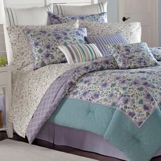 Laura Ashley Arietta 4-piece Cotton Comforter Set
