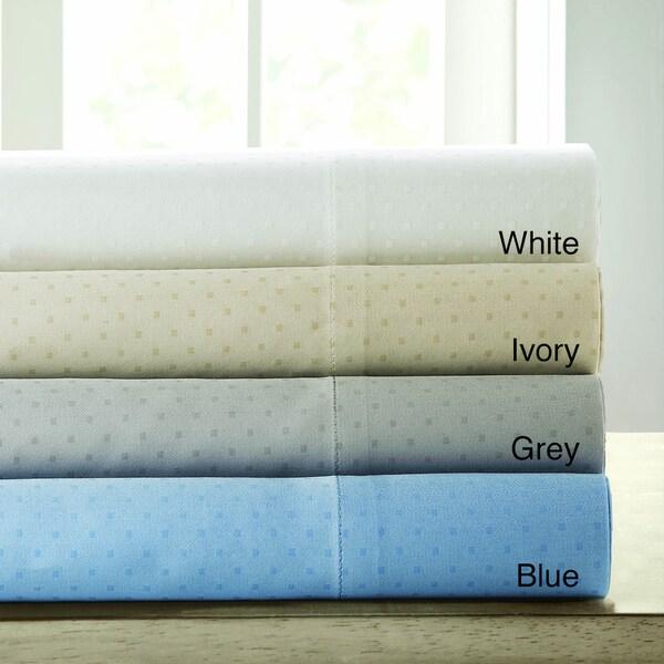 Sleep Philosophy Liquid Cotton Swiss Dot 300 Thread Count Pillowcases (Set of 2)