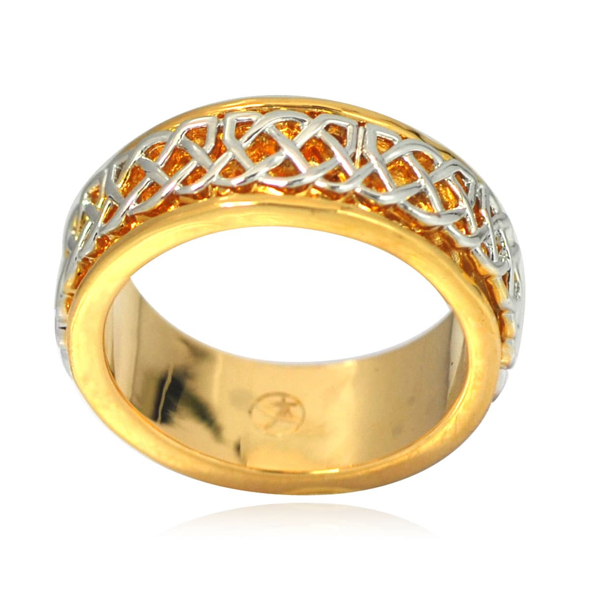 De Buman 14k Gold Overlay Men's Celtic Band