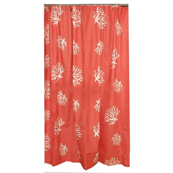 Shop Coral Reef Cotton Shower Curtain