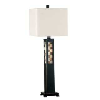 Sawyer Mother of Pearl Checkerboard Table Lamp