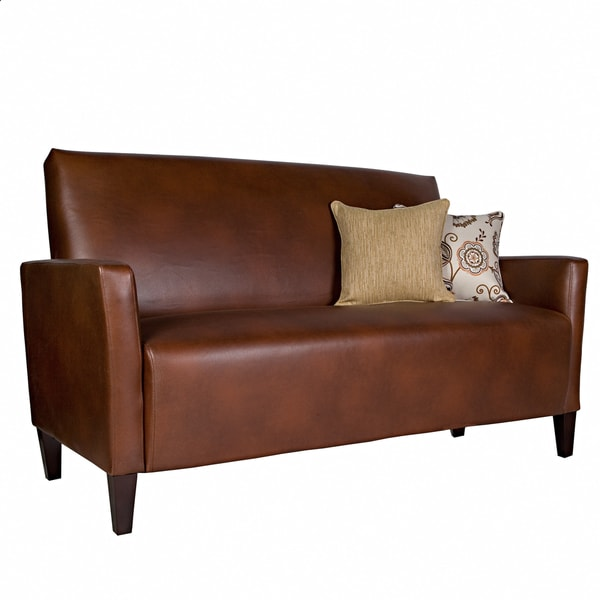 Better Living Gia Brown Renu Leather Sofa