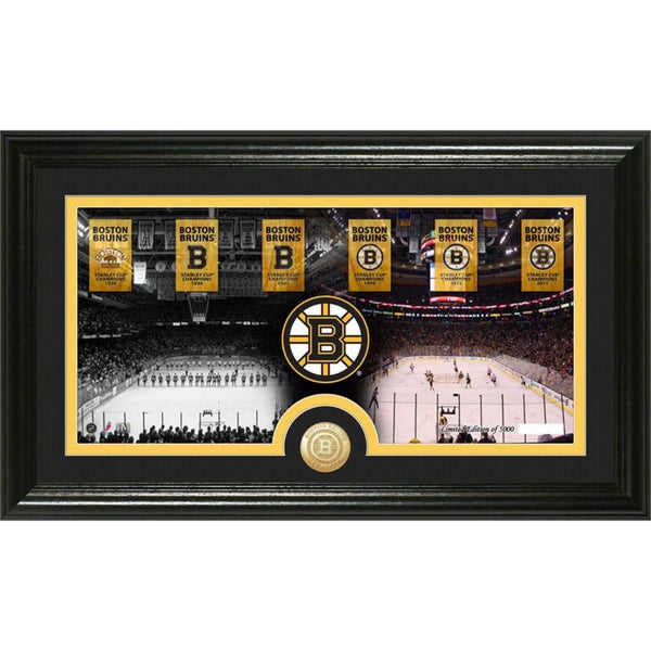 Boston Bruins 'Traditions' Minted Coin Panoramic Photo Mint
