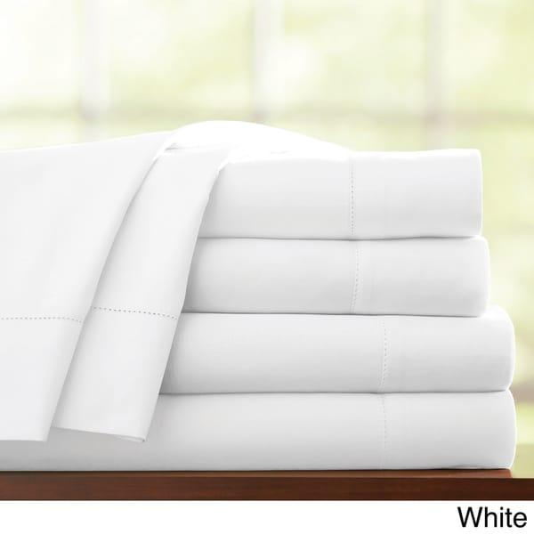 pointehaven thread count pima cotton sateen extra deep pocket sheet set free shipping today - Pima Cotton Sheets