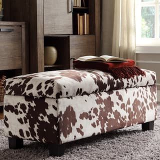 Sauganash Cowhide Print Lift Top Storage Bench by iNSPIRE Q Bold|https://ak1.ostkcdn.com/images/products/8119600/P15466651.jpg?impolicy=medium