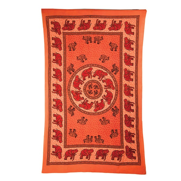 Elephant March Tapestry (India)