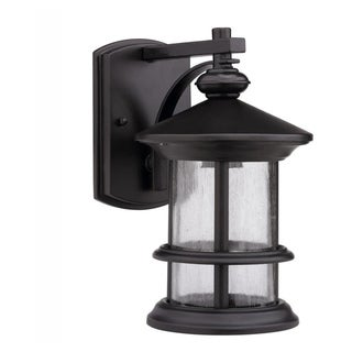Chloe Transitional 1-light Dark Bronze Aluminum Outdoor Wall Sconce