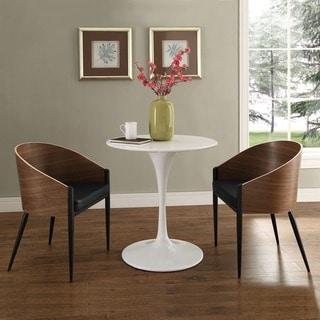 Shop Cooper Walnut Veneer Wrap Around Dining Chairs Set