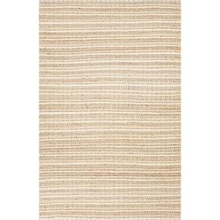 """Haven Natural Stripe Beige/ Blue Area Rug (3'6"""" X 5'6"""")"""