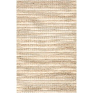 Handmade Naturals Solid Pattern Brown Wool Rug (3'6 x 5'6)