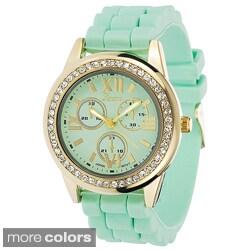 Geneva Women's Platinum Pastel Silicone Watch