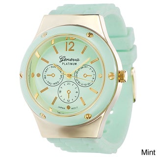 Geneva Women's Platinum Light Pastel Silicone Watch