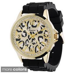 Geneva Women's Animal-Print Dial Platinum Silicone Watch|https://ak1.ostkcdn.com/images/products/8119737/Geneva-Womens-Animal-Print-Dial-Platinum-Silicone-Watch-P15466756.jpg?impolicy=medium