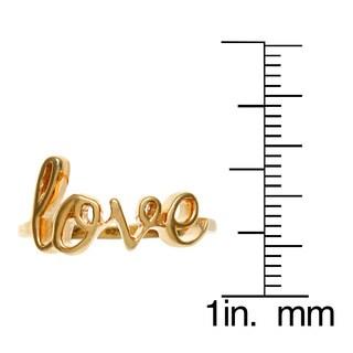 La Preciosa Sterling Silver 'Love' Ring