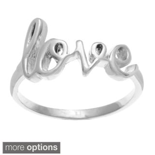 La Preciosa Sterling Silver 'Love' Ring