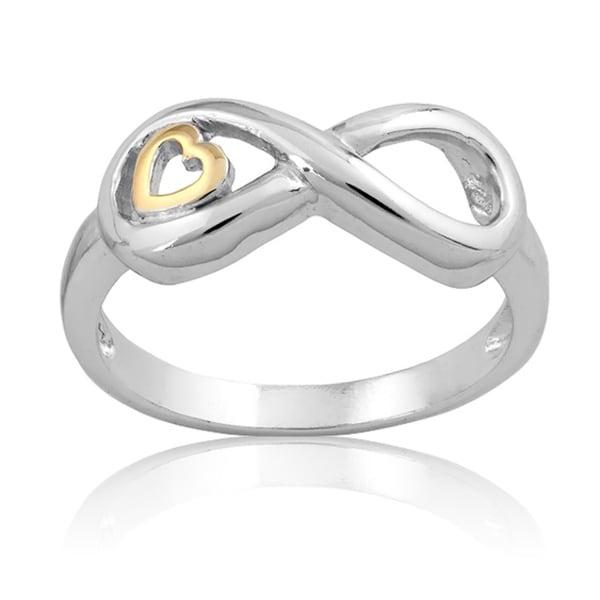 La Preciosa Sterling Silver Infinity Heart Ring