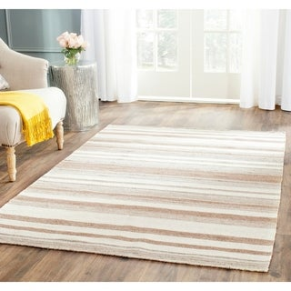 Safavieh Hand-woven Moroccan Reversible Dhurrie Natural Wool Rug (4' x 6')