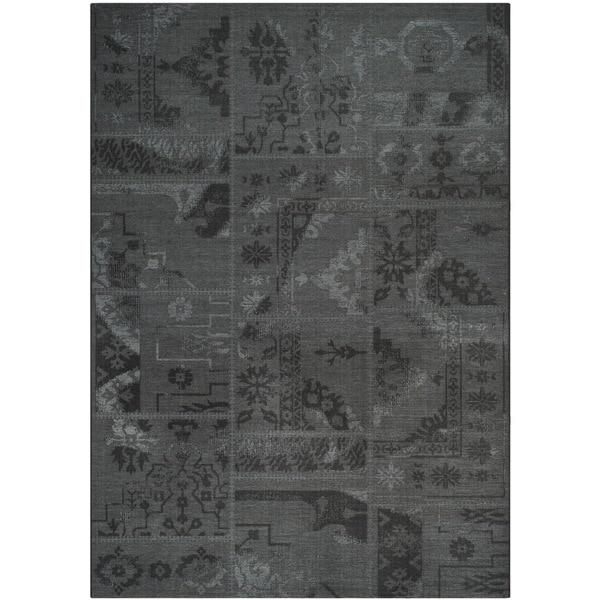 Safavieh Palazzo Black/ Grey Chenille Area Rug - 8' x 11'
