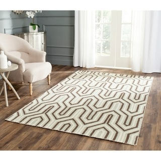 Safavieh Hand-woven Moroccan Reversible Dhurrie Grey Wool Rug (6' Square)