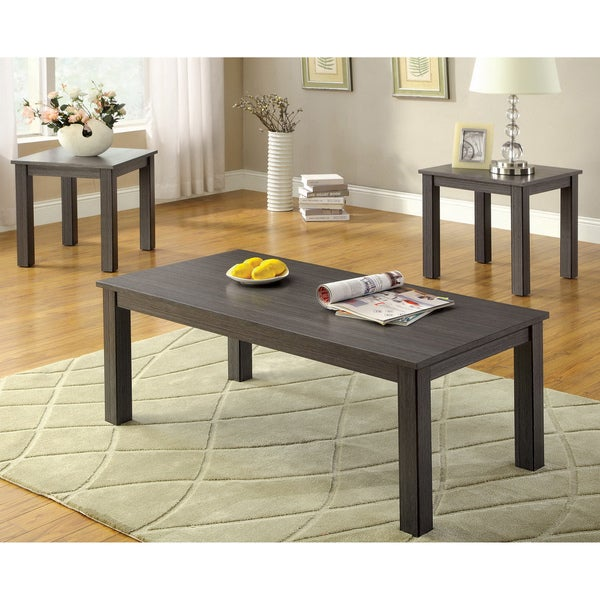 Shop Furniture Of America 'Cinder' 3-piece Grey
