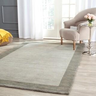 Safavieh Handmade Himalaya Light Grey/ Dark Grey Wool Gabbeh Rug (8'9 x 12')