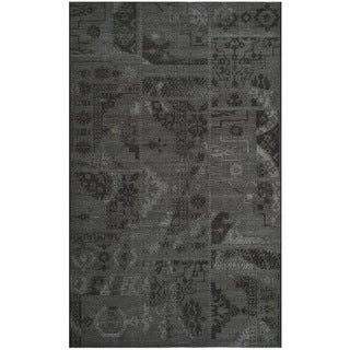 Safavieh Palazzo Black/Gray Indoor Over-Dyed Chenille Rug (5' x 8')
