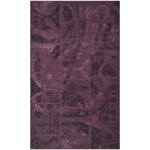 Safavieh Palazzo Black/ Purple Overdyed Chenille Area Rug - 4' x 6'