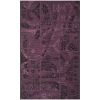 Safavieh Palazzo Black/ Purple Overdyed Chenille Area Rug - 5' x 8'