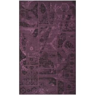 Safavieh Palazzo Black/Purple Over-Dyed Geometric Chenille Rug (8' x 11')