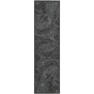 Safavieh Palazzo Black/Gray Over-Dyed Chenille Runner Rug (2' x 7'3)