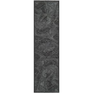 Safavieh Palazzo Black/Gray Over-Dyed Chenille Runner Rug (2' x 7'3)|https://ak1.ostkcdn.com/images/products/8119954/Safavieh-Palazzo-Black-Gray-Over-Dyed-Chenille-Runner-Rug-2-x-73-P15466959.jpg?impolicy=medium