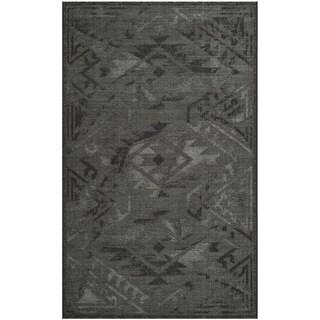 Safavieh Palazzo Black/ Grey Vintage Chenille Area Rug - 4' x 6'