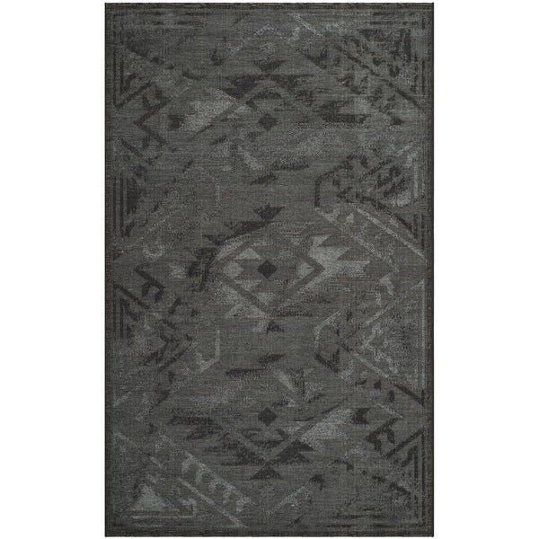 Safavieh Palazzo Black/ Grey Over-dyed Chenille Rug (4' x 6')