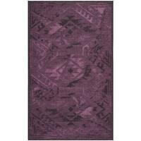 Safavieh Palazzo Black/ Purple Overdyed Chenille Area Rug - 4' x 6'