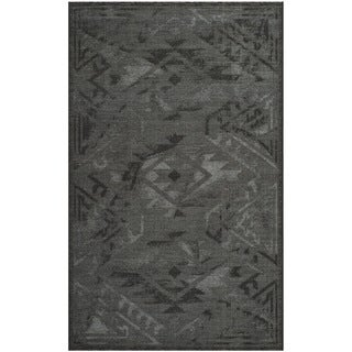 Safavieh Palazzo Black/ Grey Over-dyed Chenille Rug (5' x 8')